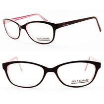 Armação Paulo Carraro Acetato Para Óculos De Grau - 8009
