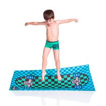 Sunga Cara De Criança Boxer Lycra + Toalha - Shape Verde