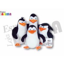 Kit 4 Pelúcias Pinguins De Madagascar Recruta Rico Capitão