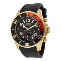 Relógio Invicta 13729 Specialty Crono - Banhado A Ouro 18k
