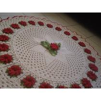 Lindo Tapete Redondo Em Croche 1,50m