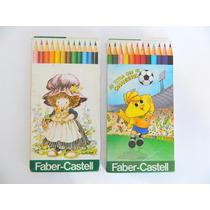 Lote 2 Caixas Lápis De Cor C/12 Cores Faber Castell Usados