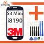 Tela Vidro Samsung S3 Mini I8190 Azul + Fita 3m + Chaves