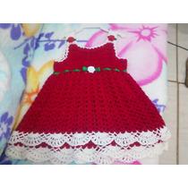 Vestido De Croche Para Bebe - Natal