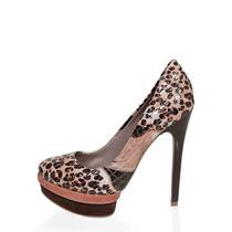 Sapatos Salto Alto Scarpin Onça Peep Toe Aliris (sp190-91)