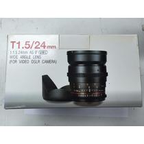 Lente Rokinon Samyang 24mm Tcine T1.5 Ed If Umc Cine Vdslr