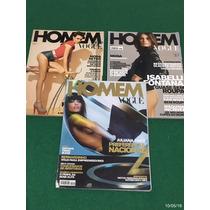 * Lote Com 3 Revistas Vogue Homem *