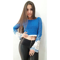 Blusinha Top Cropped Mini Blusa Renda Com Gripper