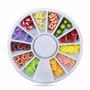 120pcs Enfeites Para Unhas Estilo Frutas Em Embalagem Roda