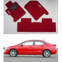 Tapete Carpete Vermelho Para Honda Civic Si 2008 2009 2010