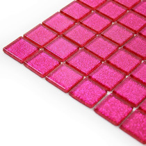 Pastilhas De Vidro Arte Pink - Quarto, Banheiro, Lavabo
