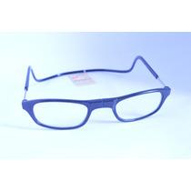 Óculos Armação Preta Leitura Magnético Imã +3,0