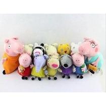 Peppa Pig Familia + Amiguinhos Frete Grátis Pelúcia Plush