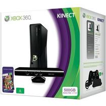 X Box 360 500gb 2 Controles, Jogo E Kinect Novo Original
