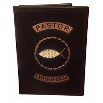 Carteira Porta Funcional Pastor Evangélico - Preto