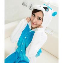 Pijama Adulto Macacão Animal Unicornio Mitologia Com Capuz