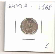 Ml-4328 Moeda Suécia (10 Ore Sverige) 15mm 1968