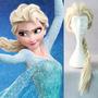 Peruca Cabelo Frozen Elsa Cosplay Loira Tamanho Maior
