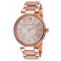 Relógio Michael Kors Mk5868 Rosé Strass Original Garantia*