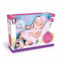 Boneca Baby Ninos Bebê Recém Nascida Com Certidão - Cotiplás