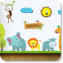 Adesivo Papel Parede Quarto Infantil Coruja Zoo Safari 2,50m