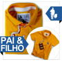 Kit Tal Pai E Filho Polo E Bodys, Todos Os Tamanhos