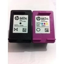 Kit De Cartuchos Hp 662xl Preto + 662xl Color Vazios Usados