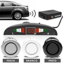 Sensor De Ré Display Meia Lua - Preto/branco/prata