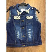 Colete De Jeans Feminino Moda Atacado 45.55