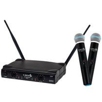 Microfone Sem Fio Duplo Uh02 M/m Lyco = Shure