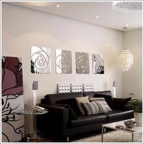 Espelho Acrílico De Parede Design Rosa Espelhada