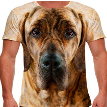 Camiseta Cachorro Fila Tigrado Masculina