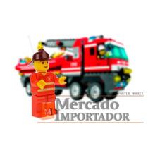 Personagem Boneco Bombeiro Lego City Brinquedo