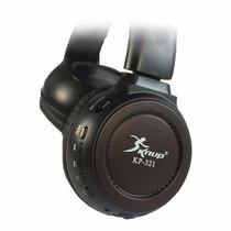 Fone Ouvido Headphone Sem Fio Entrada Cartão Micro Sd Mp3 Fm