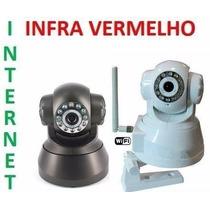 Camera Ip Ir Wireless Internet Visão Noturno Sensor 360