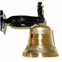 Peça Decorativa Sino De Ferro Bronze Grande 75kg