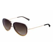 Oculos Armacao Solar Ana Hickman 3124 F01 Ah Beje Go Aviador