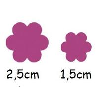 Kit C/ 2 Furadores Flor 1,5cm + 2,5cm P/ Papel E Eva Tec