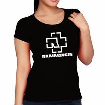 Baby Look Rammstein Banda Rock Alemã - Camiseta Blusa Fem