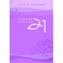 Bíblia Almeida Século 21 - Brochura - Lilás C/ Capa Cristal
