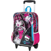 Kit Mochila Grande C/ Roda Monster High