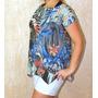 Roupas Feminina Blusa Camiseta Feminina Estampada Malha