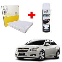Filtro Cabine + Limpa Ar Condicionado Gm Cruze Cobalt Onix