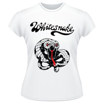 Baby Look Whitesnake Banda Rock Camiseta Feminina