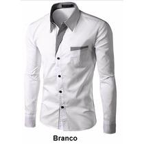 Camisas Sociais Masculinas Blusa Social Slim Fit