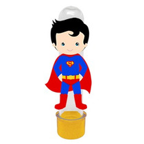 Tubetes 3d Super Homem, Batman Ou Homem Aranha Cute