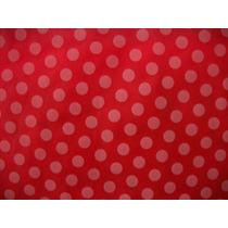 Tnt Poá - Estampado Vermelho C/ Bolinhas Brancas - 5 Metros