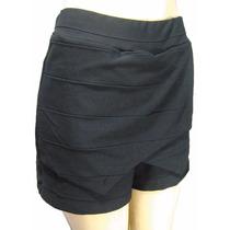 Shorts Saia Assimétrico Em Tecido Bandagem Novo