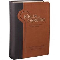 Bíblia Do Obreiro Ra Marrom Edição Letras Vermelhas
