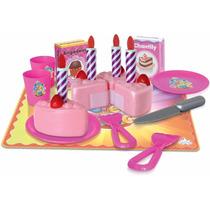 Coleção Crec Crec Festa De Aniversario Bolo Brinquedo